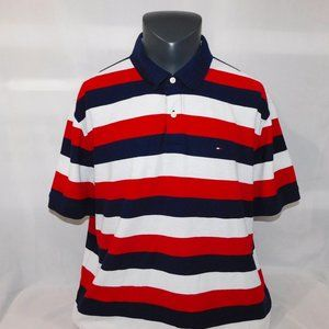Tommy Hilfiger Mens 2XL Striped Polo Shirt